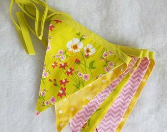 Summer banner, spring banner, photo prop spring pennant banner, Easter pennant banner, baby shower banner, wedding shower banner