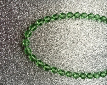 Necklace Peridot green coloured faceted Glass Crystal  Bead-Handmade Necklace-Gifts for women-Gifts for her-Ladies Jewellery-Ladies gifts