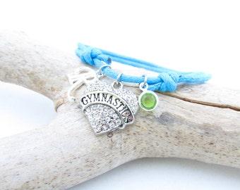 Gymnastics Bracelet, Gymnastics Jewelry, Gymnastics Gifts, Gymnastics Party, Gymnast Bracelet