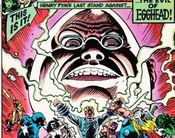 Vintage Comic Book The Avengers Number 229 March 1983 Marvel Comics - Hank Pym - Hulk - Iron Man - Thor- Wasp - Captain America - Nebula