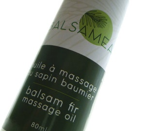 Balsam fir massage oil (no essential oils) / Huile à massage au sapin baumier (sans H.É.)