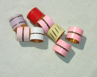 Extra Large Colorful Beads - Jewelry Making Supplies - 8 pcs