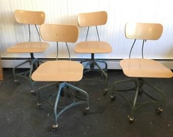 Vintage Swivel School Chairs
