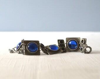 Vintage Bent Larsen Modernist Pewter Bracelet