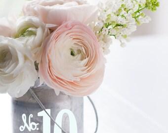 Rustic Wedding Number, Wedding Table Number,Number Decal, Custom Table Number,Wedding Reception Decor, Vintage Wedding Look