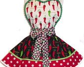 "Ready to Ship! Exclusive ""Feliz Navidad"" Retro Christmas Apron - Only from Tie Me Up Aprons!"
