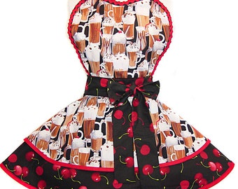 READY TO SHIP! Cherry On Top: Retro Pinup Apron