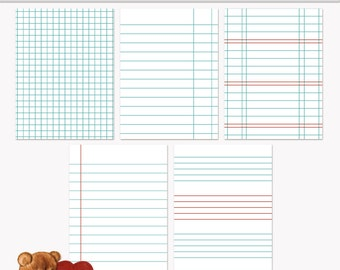 Printable Journaling Cards Ledger Set 1 Blue for scrapbooking and project life INSTANT DOWNLOAD