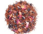 ELDERBERRY ROSE Organic Herbal Tea,  Loose Leaf Rooibos Blend, Elderberry+Roses+Lavender, Caffeine Free, 1oz Eco Box