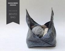 PDF Sewing Pattern, Bento Bag, Knitting Bag