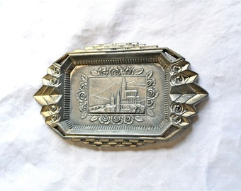 France Lourdes Ashtray or Catchall Vintage and Lovely, Deco Design Marked France