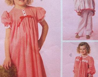Pajama fun! Children's pajama and nightgown and robe pattern McCall's M5224
