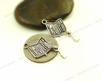 Bulk 18 Tool Bag Charms Antique Silver Tone Metal - 32x15mm - Tool Case, Very Detailed - BE23