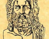 Zeus Lord of Olympus Rubber Stamp