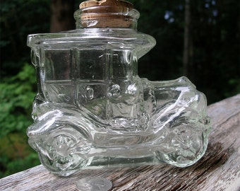 Rare Vintage Duncan Royale Glass Car Bottle - Collectible Model T Container - Novelty Automobile Jar
