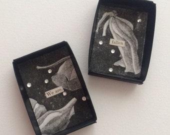 Miniature Matchbox Collage Art Magnet
