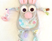 Mini Mouse Baby Lovey Tag Blanket Sensory Teething Pacifier Toy Friend