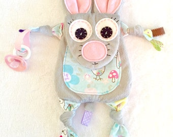 Mini Mouse Baby Lovey Blanket Sensory Teething Pacifier Toy Friend