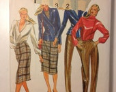 Butterick Sewing Pattern 3302 80s Misses Jacket, Pants and Skirt Size 10 Uncut