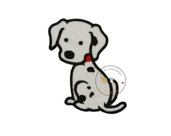Iron on fabric applique- Dalmatian dog- Firefighter theme
