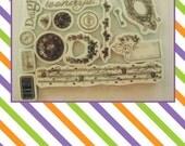 Rubber Stamp,Clock Stamp, Key, Love, Planner stamps, Floral, Steampunk,Cardmaking supplies,Planner Supplies
