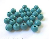 8mm Aqua Beads. Blue Green Beads. Turquoise Teal Colorful Acrylic Beads. 8 mm Round Beads. DIY Jewelry Making Supply Craft Beads - 25 Pieces