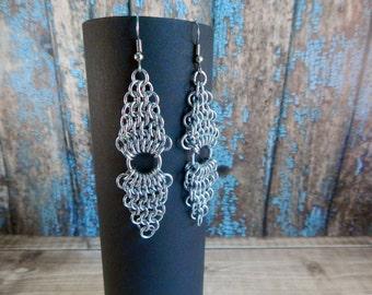 European 4-in-1 Diamond Chainmaille Earrings