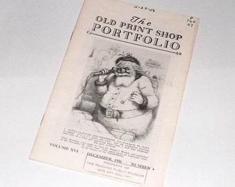 SANTA CLAUS, 1956 Old Print Shop Portfolio