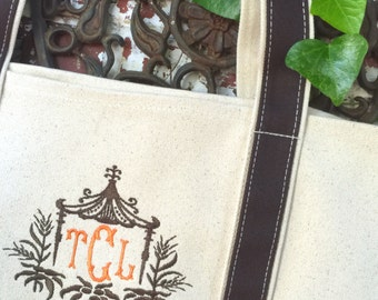 Monogram Large Boat Tote - Monogrammed Boat Tote - Monogram Tote Bag - Monogrammed Tote Bag - Embroidered Tote -  Beach Tote - Teachers Bag