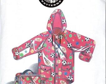 Boys or Girls Raincoat, Jacket and Lunchbox Pattern- Size Large (7-8), X-Large (10-12) - Frostline, Dakota Station Pattern 08062, uncut