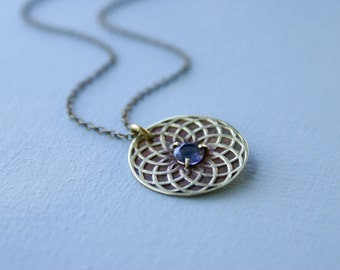 Circle of Life necklace - iolite