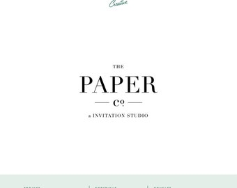 "Pre Made Logo Design - Small Business Logo - ""Paper Co"""