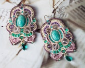 Soutache earrings with am...