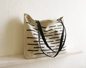 Canvas Tote bag, Oversized Tote, Shopping bag, Casual tote, Shoppers bag, Black and white, Canvas and leather, Everyday bag