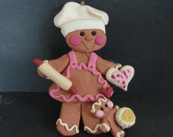 Art Easel Cake Topper : Items similar to Polymer Clay Milestone Christmas Ornament ...