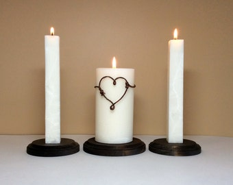 Unity Candle Set and Stand / Holder for Weddings Ceremony