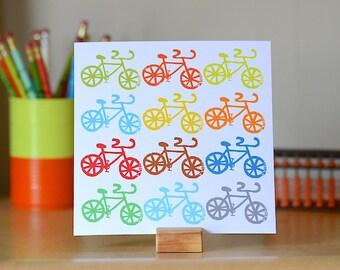 Bicycle Print, Bicycle Pop Art, Modern Bike Art, Colorful Home Decor, Kid's Room Art, Cycling Art Print, Fixed Gear Wall Art