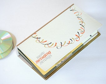 36 CD Wallet, CD/ DVD Holder Art Book Handmade from Upcycled Album Cover