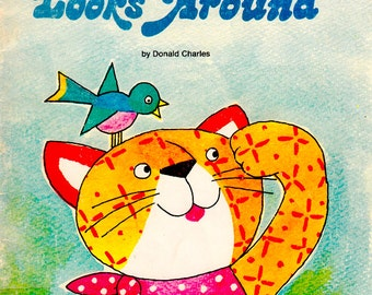 Calico Cat Looks Around by Donald Charles