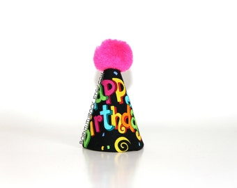 Happy Birthday Party Hat // Mini Party Hat // Ready to Ship // by Born TuTu Rock