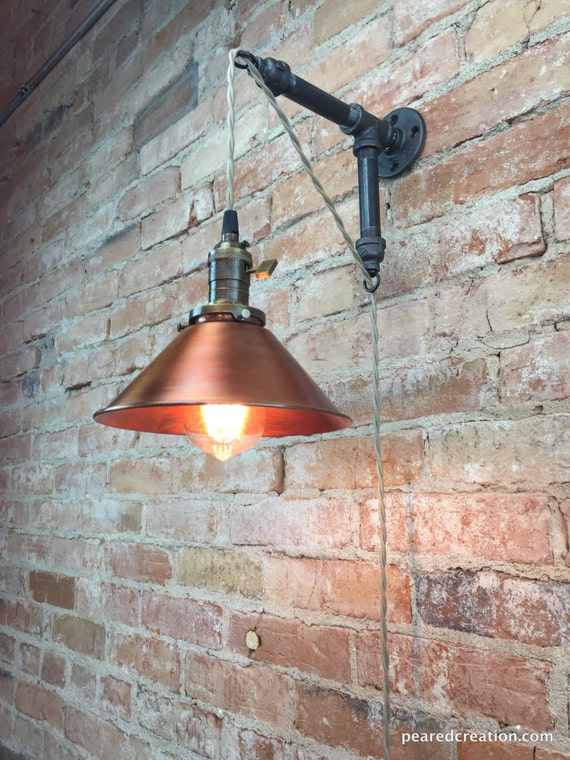 Industrial Style Sconce Pendant Lamp Copper Shade Edison