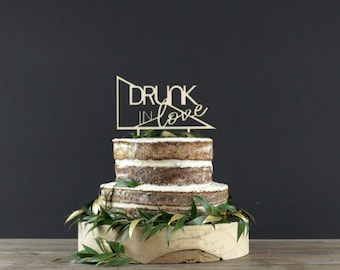 Wedding Cake Topper - Cake Decor - Wood Cake Topper - Wedding Decoration