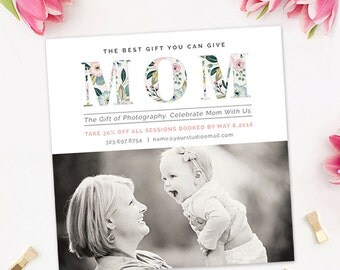 Mother's Day Photography Marketing Template, Mommy and Me Mini Session Template, Mommy and Me Template, Photography Marketing Board AD216