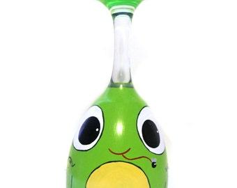 Frog Wine Glass Tea Light Candle Holder