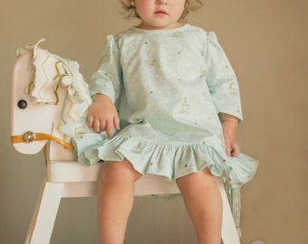 Bluebell Dress PDF Pattern - Sizes 6m, 12m, 18m, 2t, 3t, 4t, 5, 6, 7, 8, 10, 12, 14 Girls Sewing Pattern