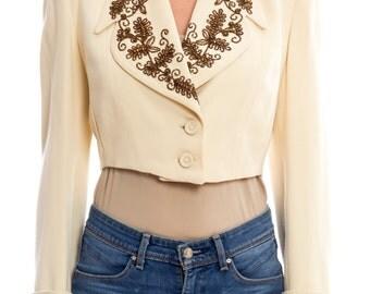 1940s50s Beaded Blazer Size: S