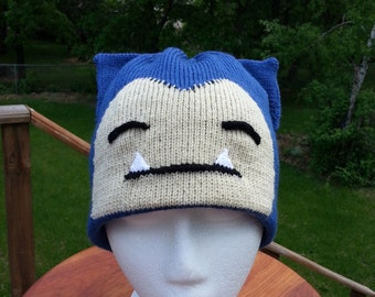 Snorlax Blue Beanie Hat - Medium