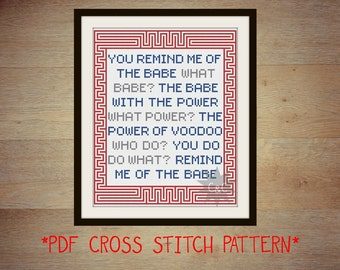 Labyrinth movie 'Magic Dance' cross stitch sampler pattern
