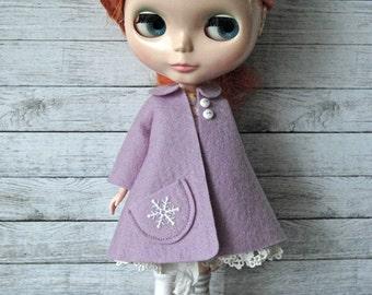 Felt Vintage Swing Coat - for Neo Blythe Doll