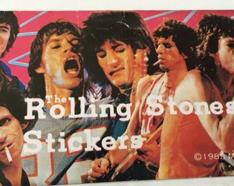 Vintage / Retro The Rolling Stones Stickers. 1983.  24 Stickers.  Brand New!!!
